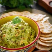 Simple and delicious home-made guacamole, very refreshing and perfect side for any meal.